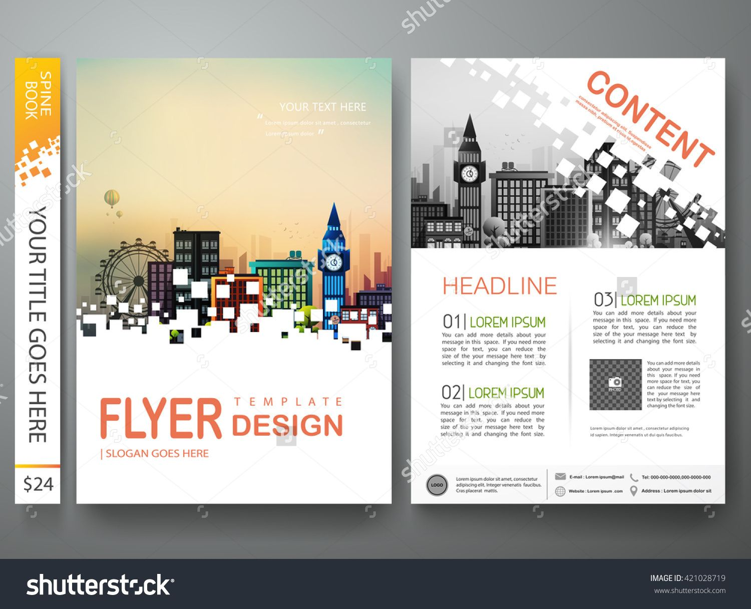 Flyers Design Template Vector. Brochure Annual Report Business ...