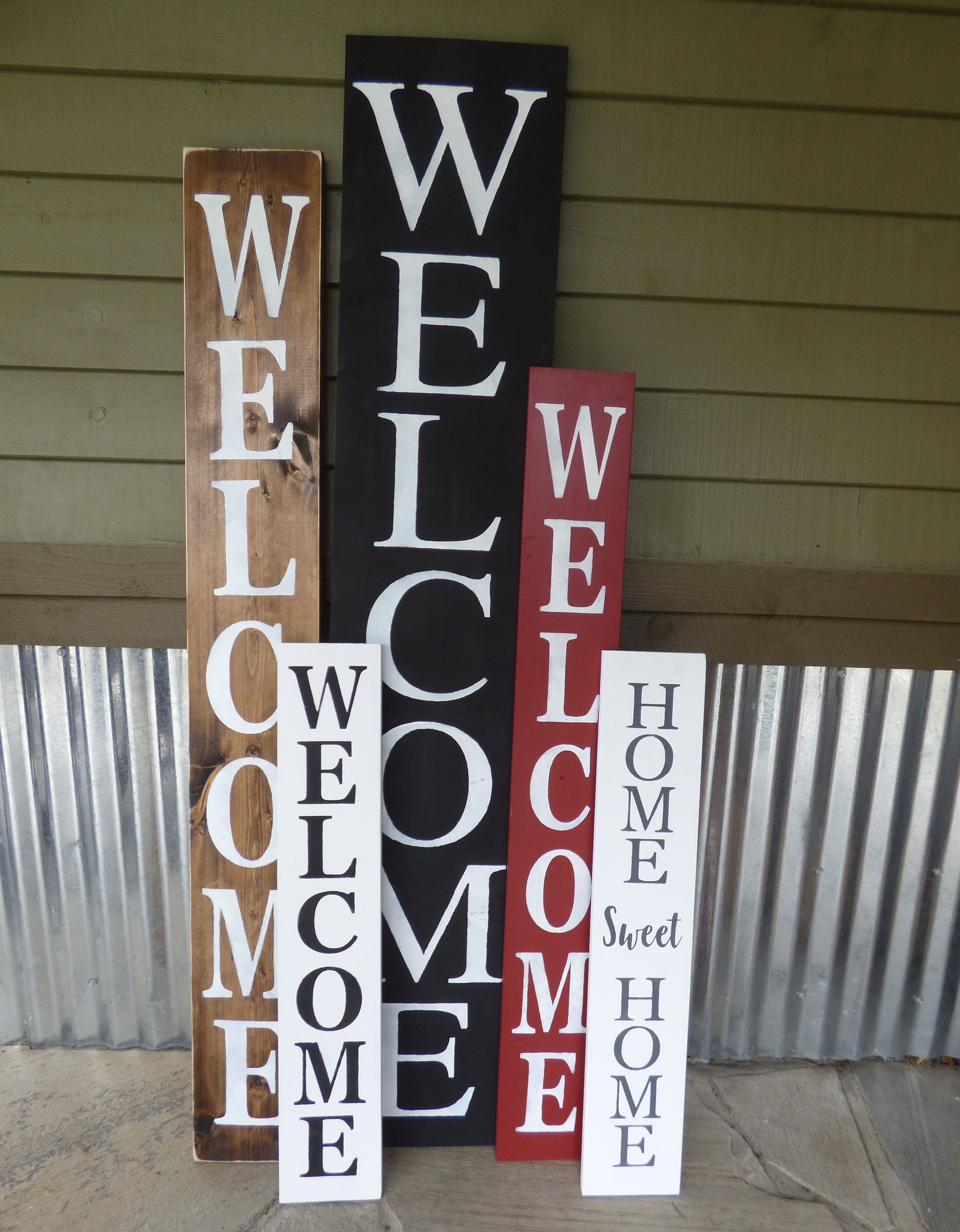 Farmhouse Welcome Sign Vertical Welcome Front Porch Sign Entry Sign Home Decor Custom Wood Sign Large Welcome Front Porch Signs Custom Wood Signs Porch Signs