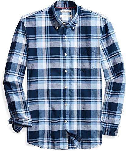 Goodthreads Mens Standard-Fit Long-Sleeve Brushed Flannel Shirt Brand