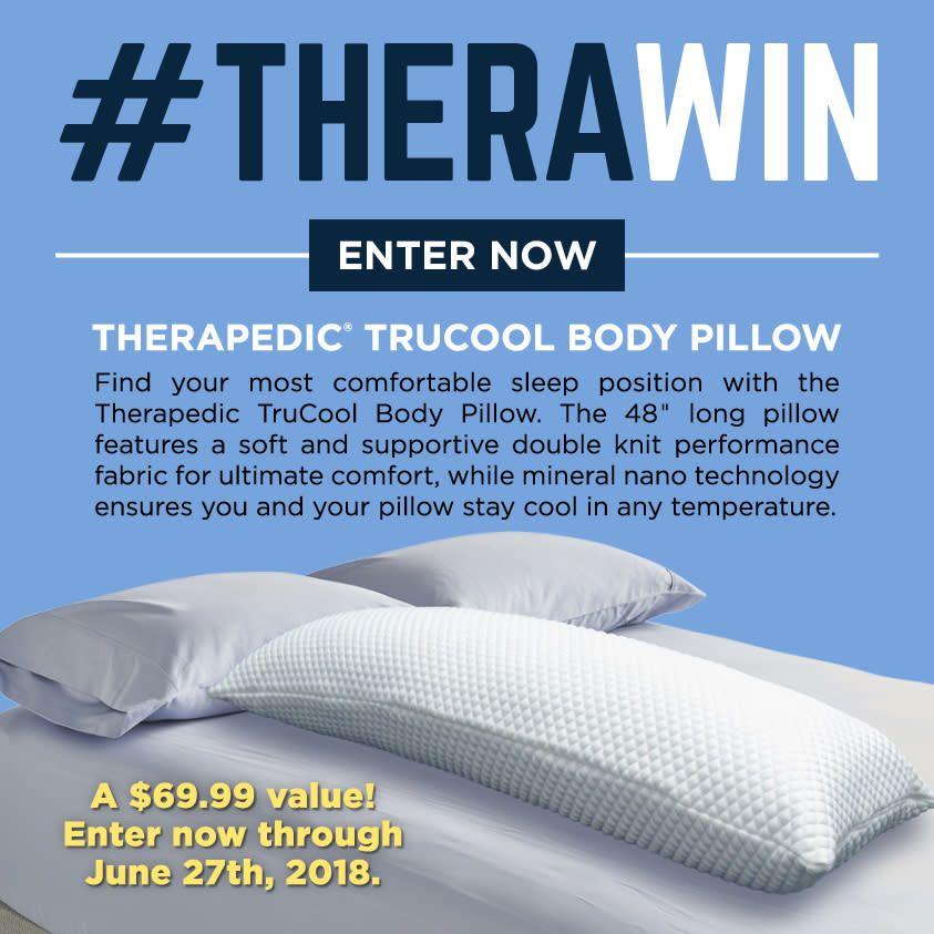 Therawin Giveaway Therapedic Trucool Body Pillow Beach Chair