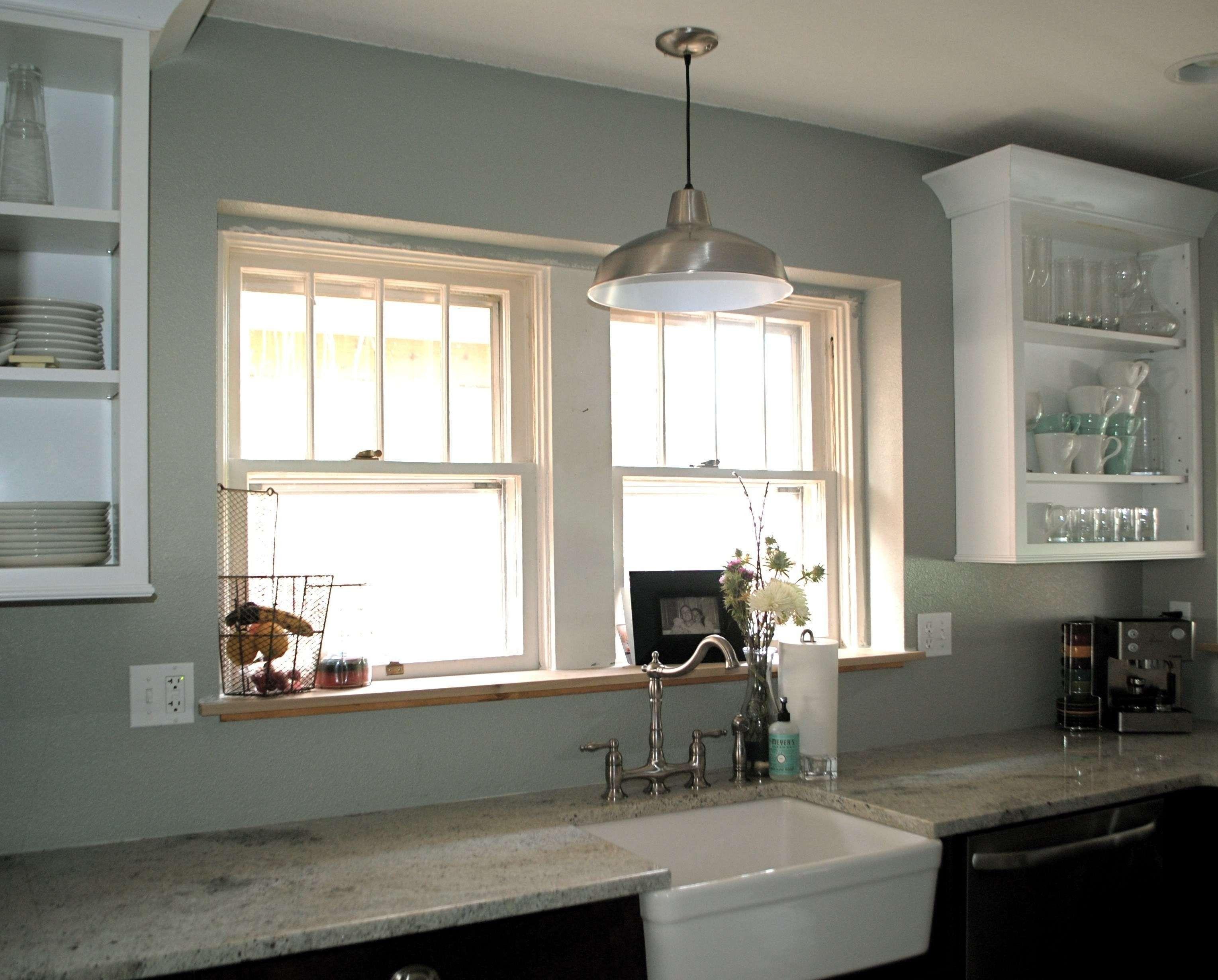 farmhouse kitchen lighting over sink