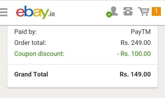 New Code Ebay Loot Flat Rs 100 Off On Rs 150 Update Not Working Now Maybe Expired Ebay Coding Work From Home Jobs