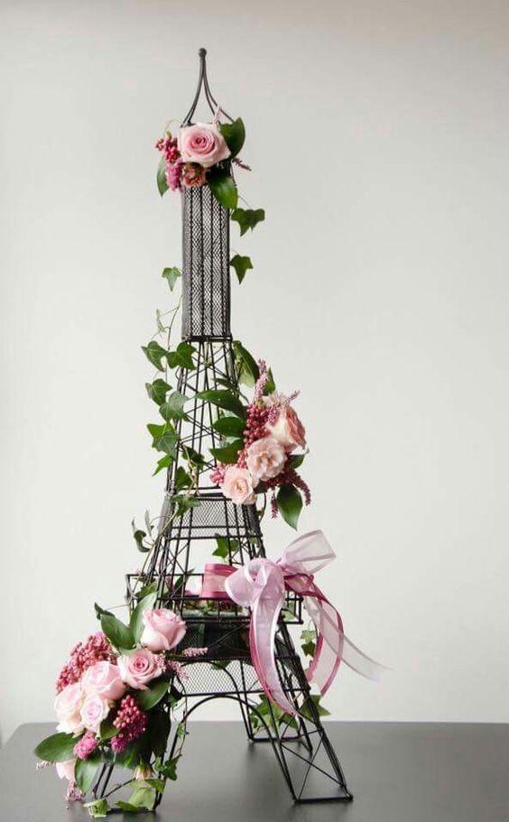 Paris Theme Table Decor Arreglos Florales Decoración