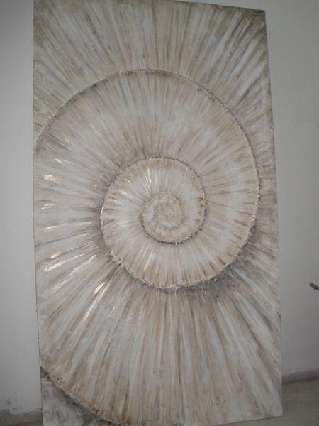 strukturpaste f r acrylmalerei acryl gemaelde ammonit schnecke 180 cm x 100 cm malen. Black Bedroom Furniture Sets. Home Design Ideas