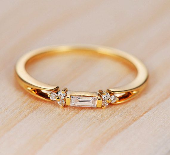 Rose Gold Topaz Engagement Ring Diamond Wedding Women Halo Half