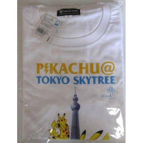 Pokemon Center 2012 Tokyo Sky Tree Pikachu Adult Tshirt Size L