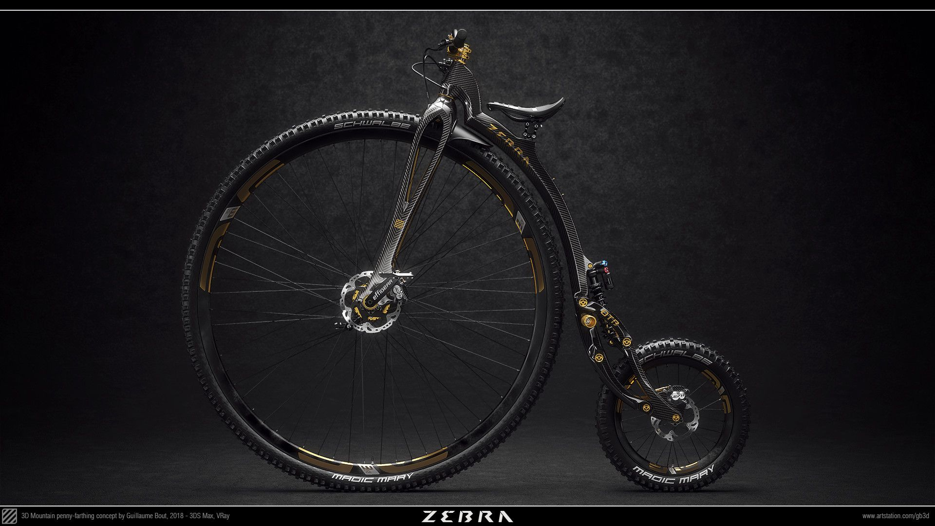Artstation Zebra Otb 21st Century Mountain Penny Farthing Guillaume Bout Penny Farthing Bicycle Penny Farthing Bicycle