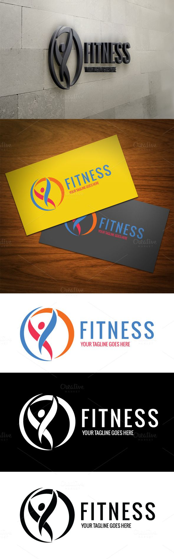 Fresh Fitness Logo by DesignMarket on Creative Market