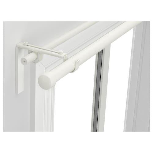 RÄCKA / HUGAD Double Curtain Rod Combination White