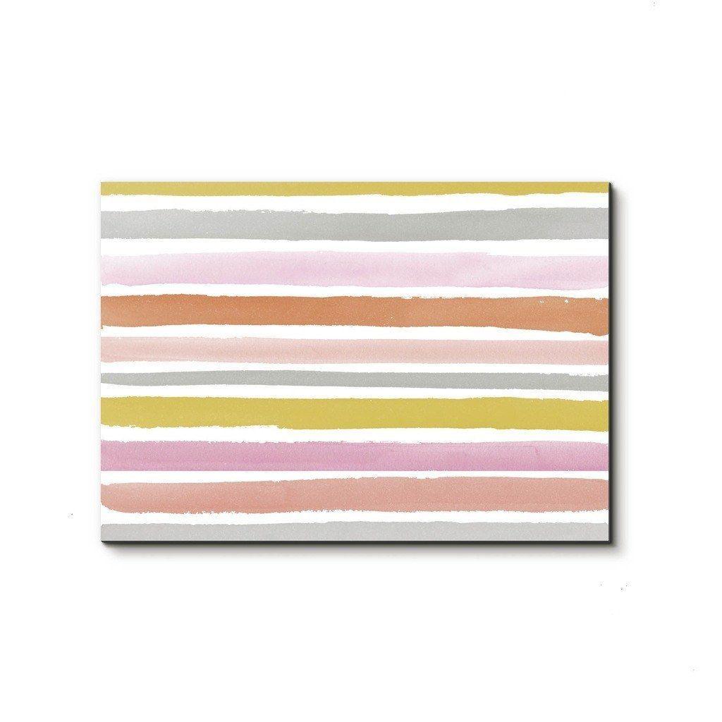 Painted pastel stripes