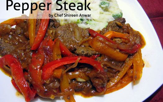 pepper steak with brown sauce recipechefshireen