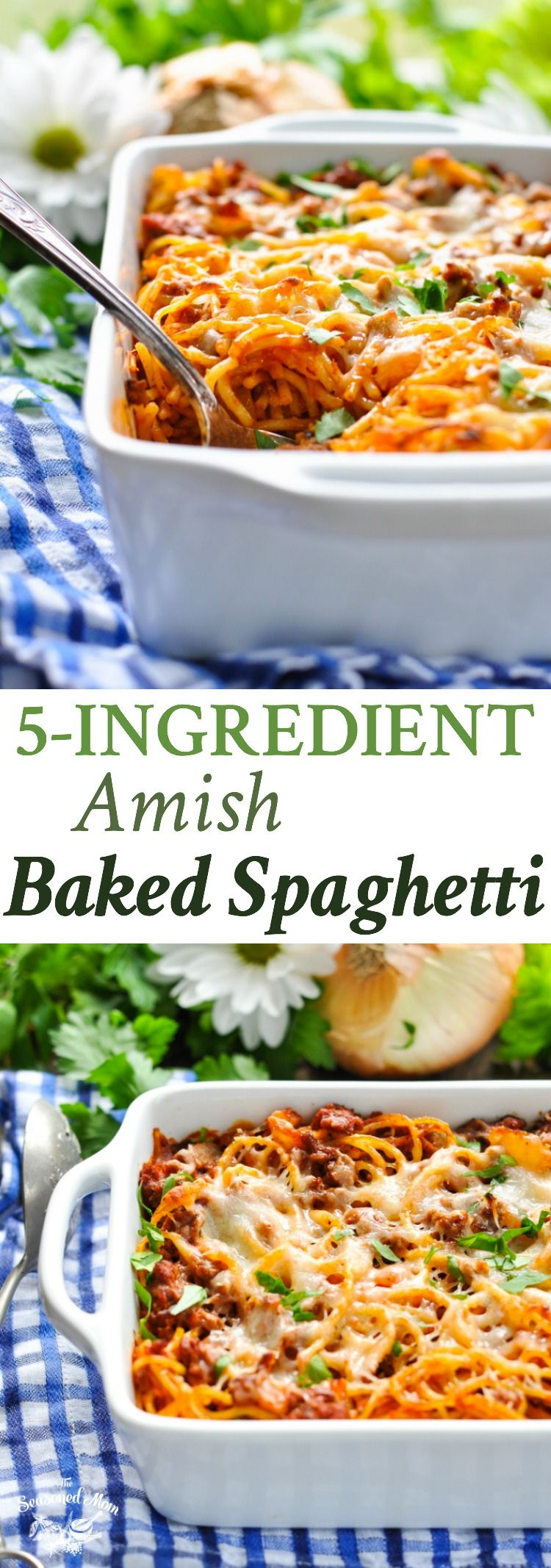 5 Ingredient Amish Baked Spaghetti Recipe Easy Dinner Recipes Beef Recipes Easy