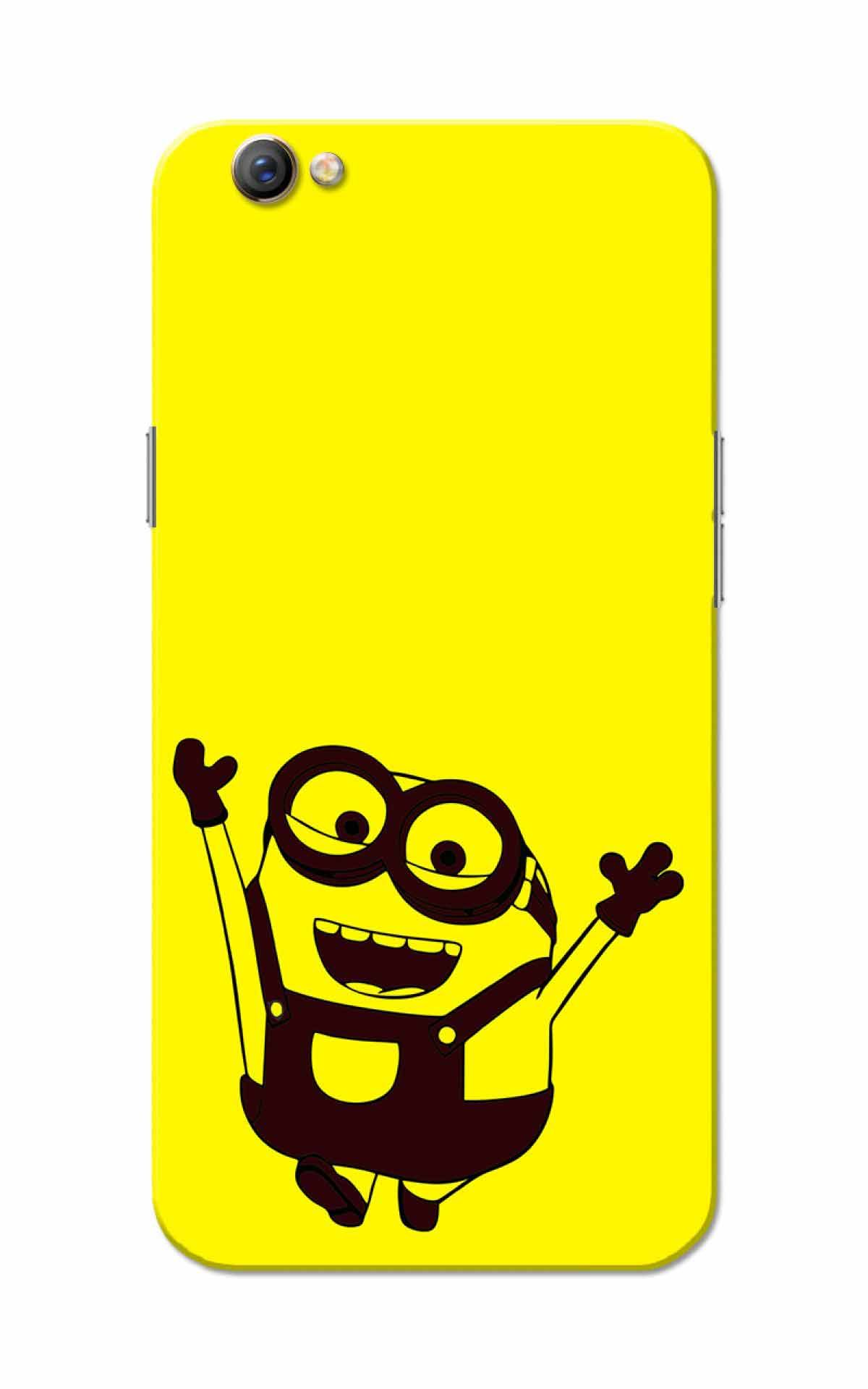 Oppo F3 Case Min Yellow Slim Fit Hard Case Cover Back Cover
