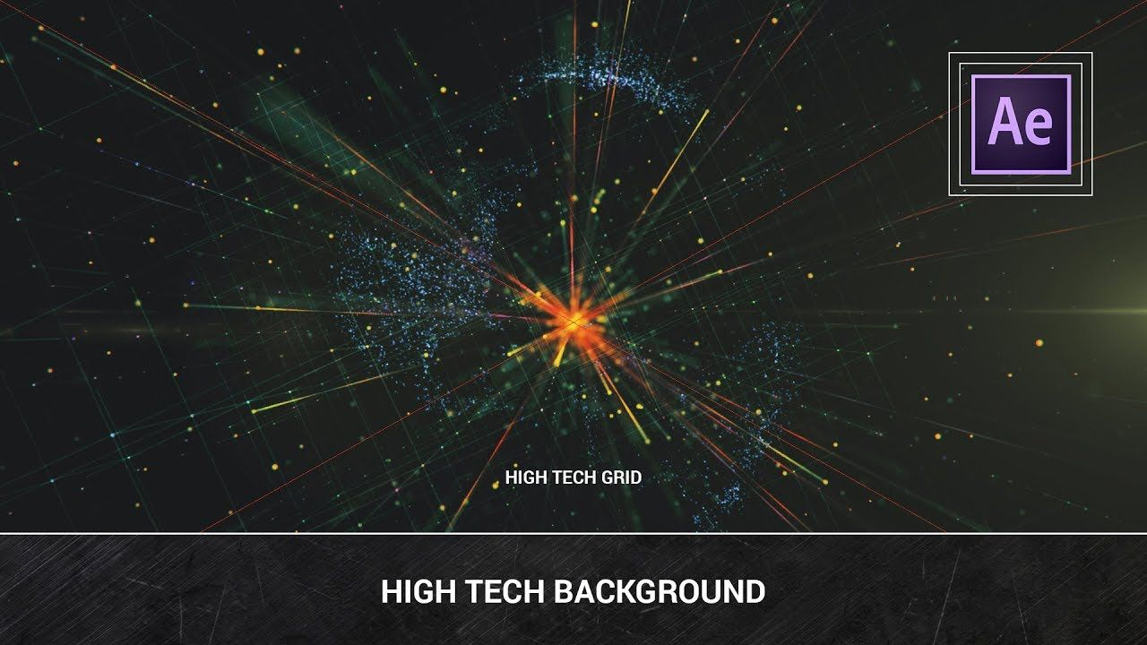 After Effects High Tech Background Trapcode Particular Plexus