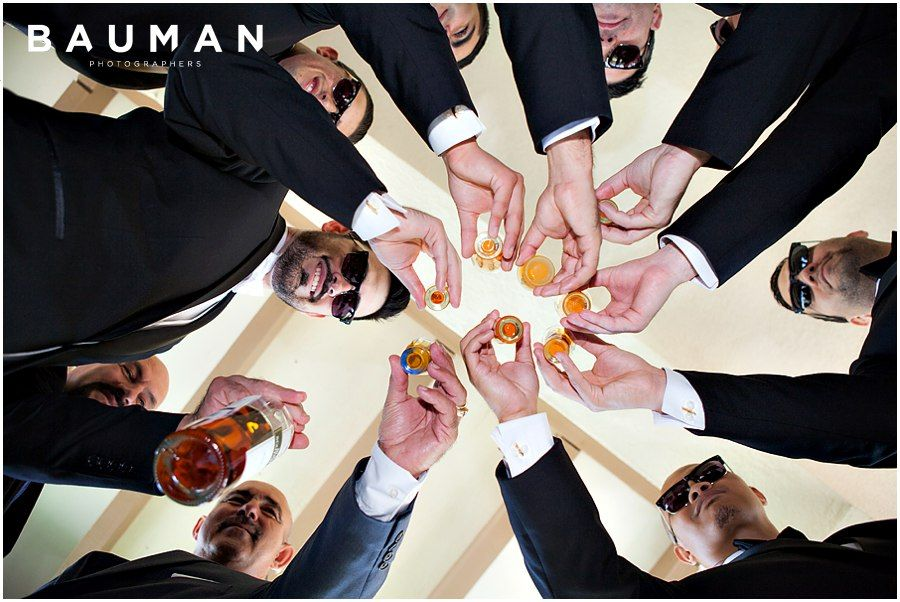 A shot with the groomsmen to get the day started!   Balboa Park Wedding, Photography by Bauman Photographers  View More: http://baumanphotographers.com/blog/weddings/2015/10/gabe-emylou-the-prado-wedding/