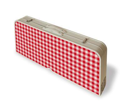 Table Pliante Festival Table Valise De Pique Nique Avec Bancs Seletti Table Valise Table Pliante Vichy Rouge