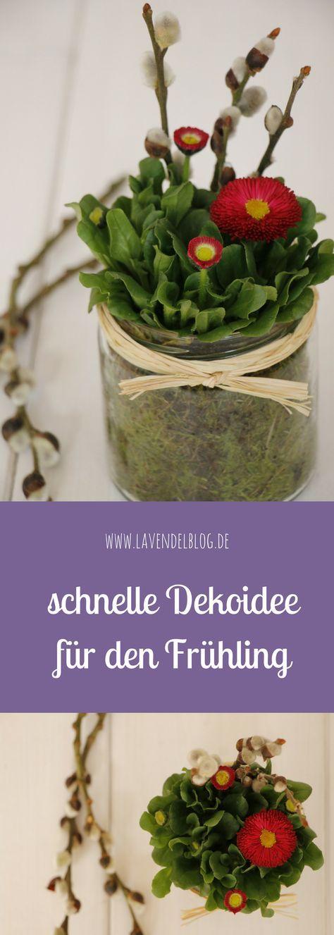 Eine schnelle Dekoidee für den Frühling - Lavendelblog #loisirscréatifs