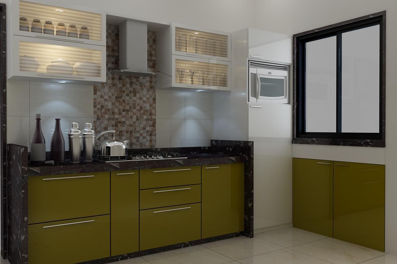 Large Kitchen With Display Window Design By Interior Designer Mahendra Jadeja Navi Mumbai India Kitchen Styling Kitchen Interior Kitchen
