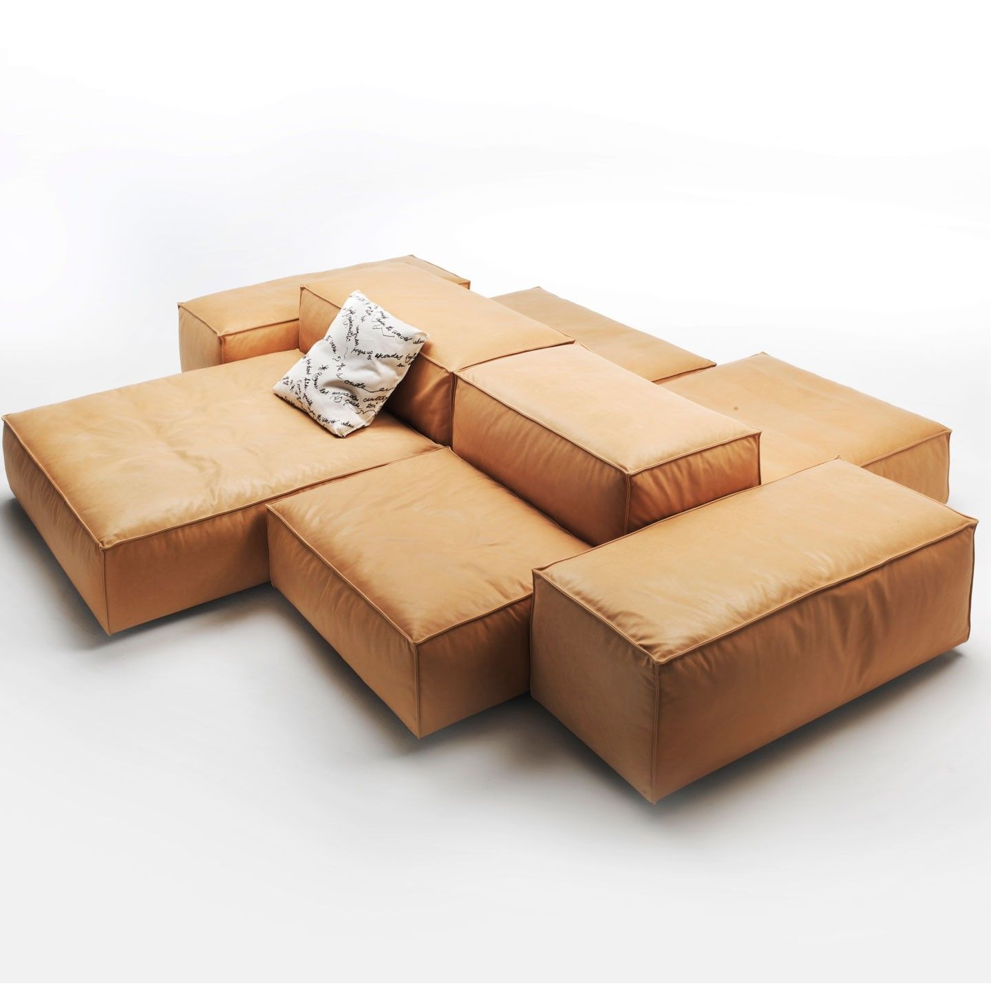 Extrasoft Leather Sofa Elements (by Living Divani)