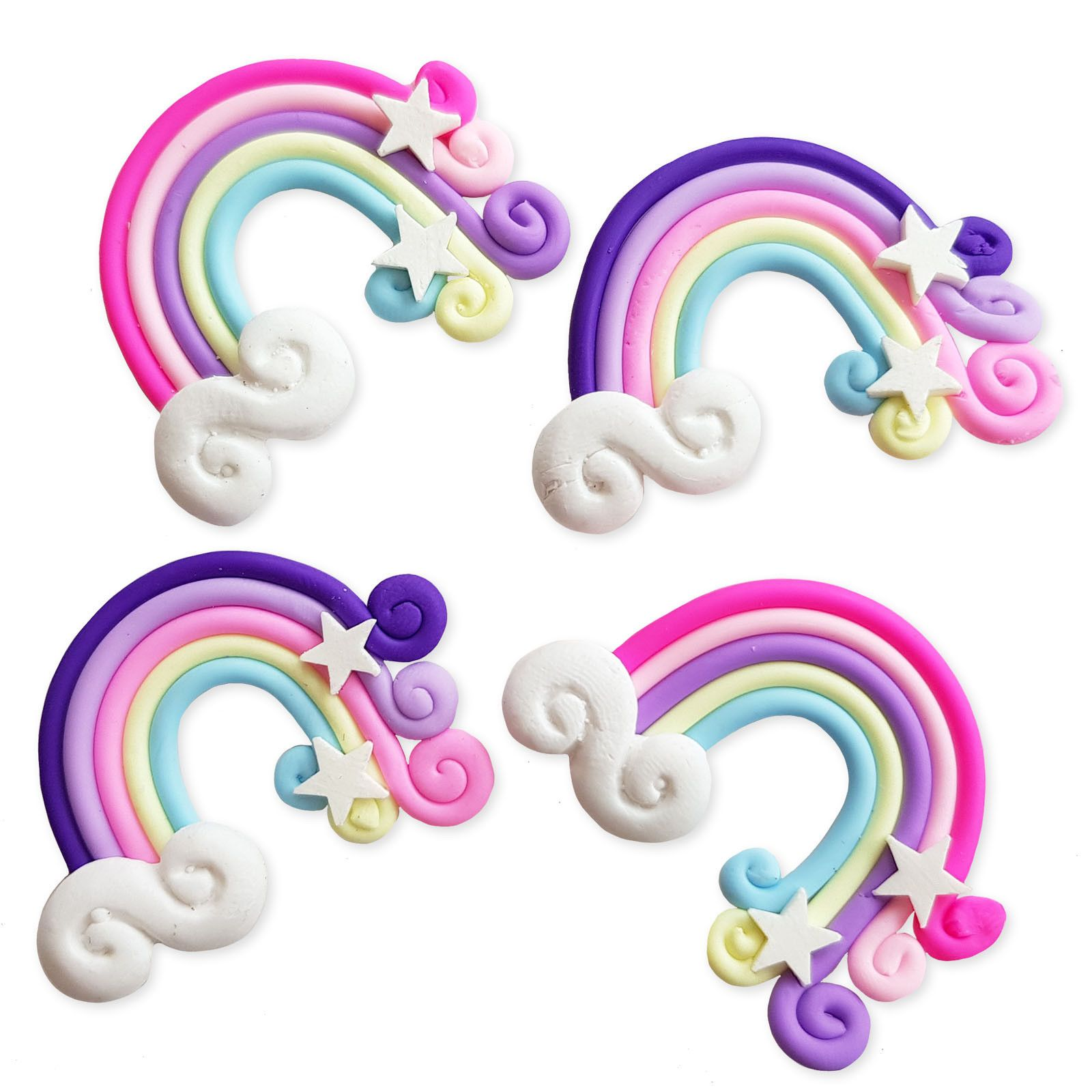 4pcs Cute Horse Resin Kawaii Flatback Cabochons Embellishment Decoden Craft