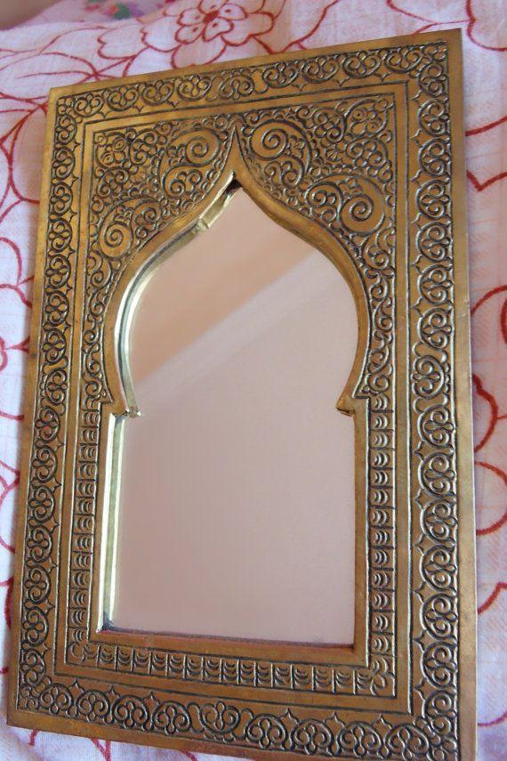 Moroccan vintage mirror small by moroccanstyle on etsy spiegel pinterest - Badezimmer marokkanisch ...