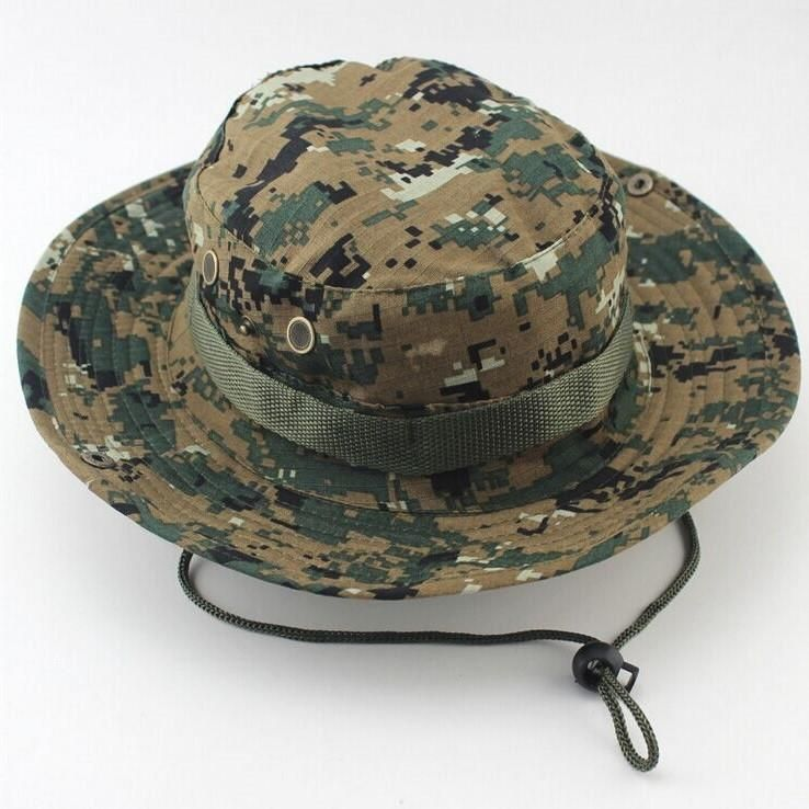 aa3dfcb5f8a Outdoor Sports Fishing Hat Camouflage Bucket Hat Fisherman Camo Jungle Bush  Hats Boonie UV Protection Wide Brim Sun Caps Ripstop