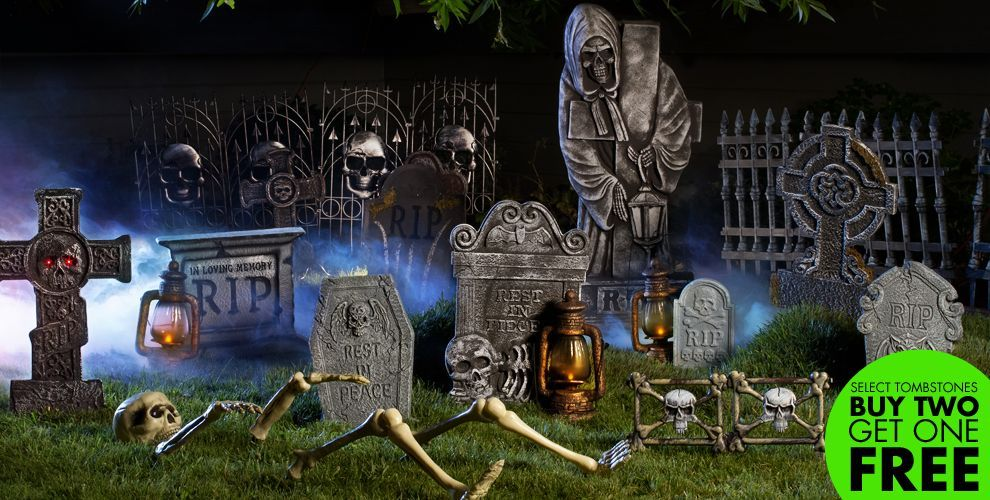 Tombstone, Cemetery Party City | X-Mas/Halloween Ideas | Pinterest ...