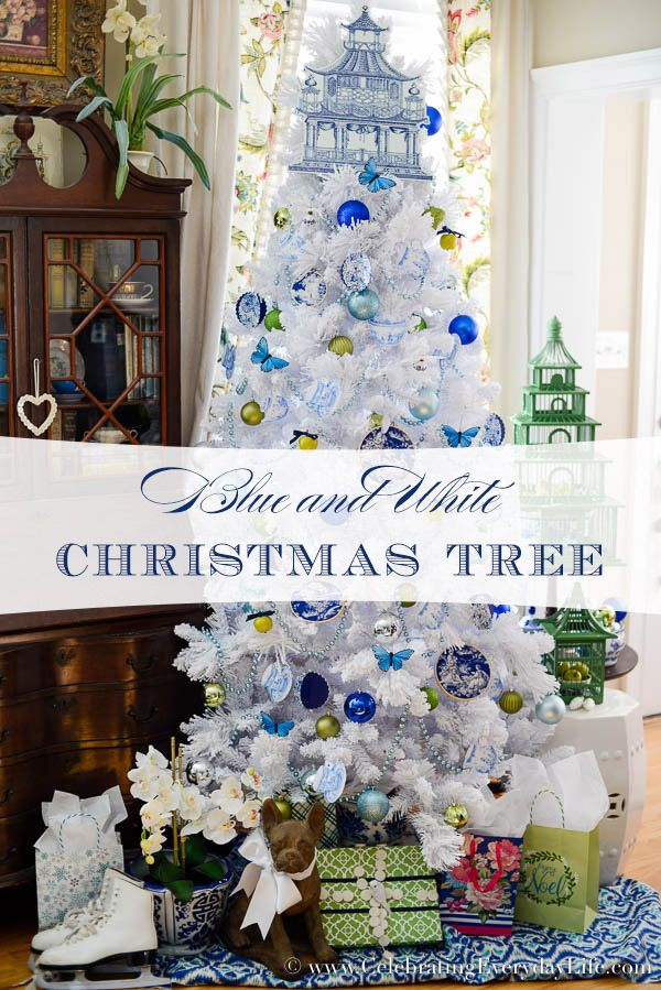 Blue White Christmas Tree White Christmas Ornaments Walmart Christmas Trees White Christmas