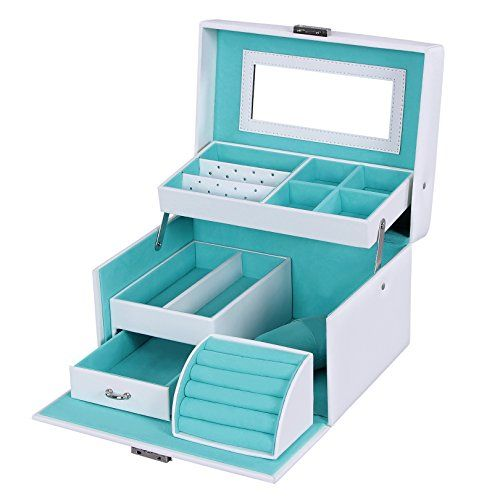 Songmics White Leather Jewelry Box Lockable Makeup Storag... http://www.amazon.com/dp/B01CQKDGDE/ref=cm_sw_r_pi_dp_L3htxb1AHH8RK