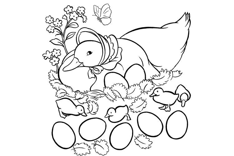 Jemima Puddle Duck Coloring Pages Coloring Pages