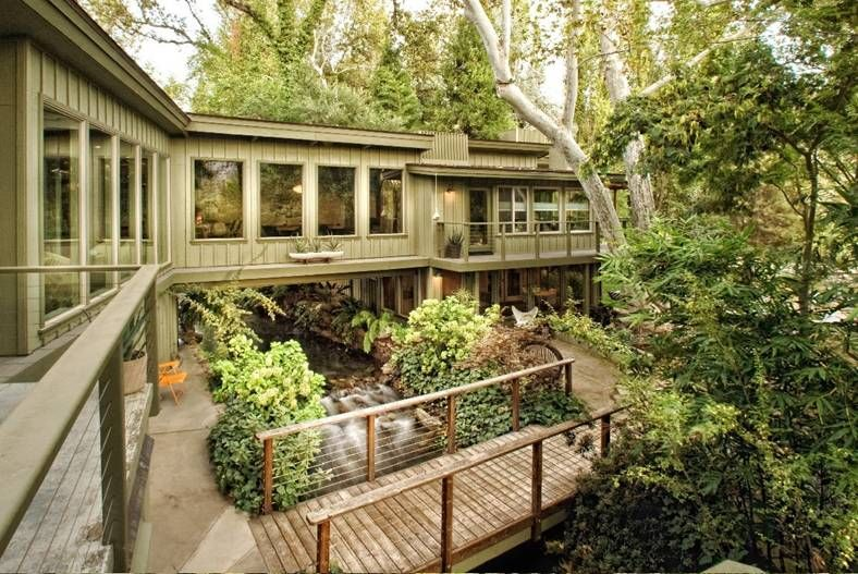 a house built across A RIVER! In Three Rivers, CA , near the entrance to Sequoia National Park
