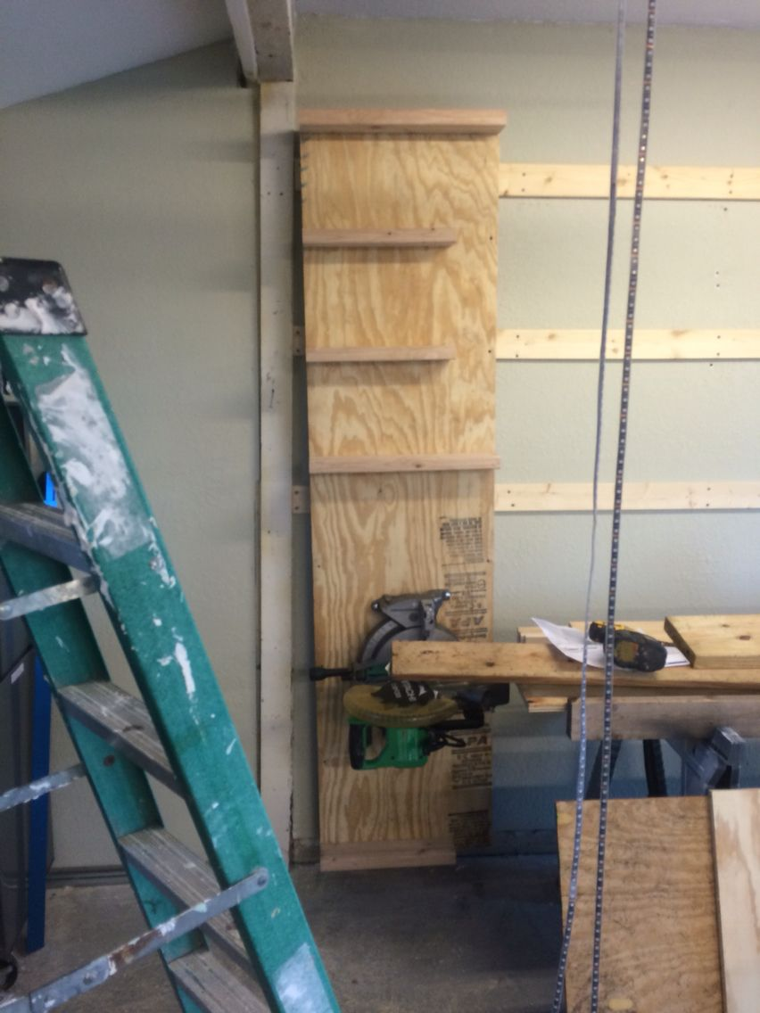 7u0027 Miter Saw Table Hangs On My French Cleat Wall
