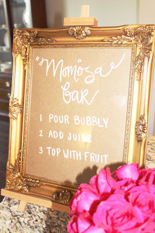 "Mom""osa Bar Sign Monograms and ""Mom""osas Baby Shower Finnie Nash"