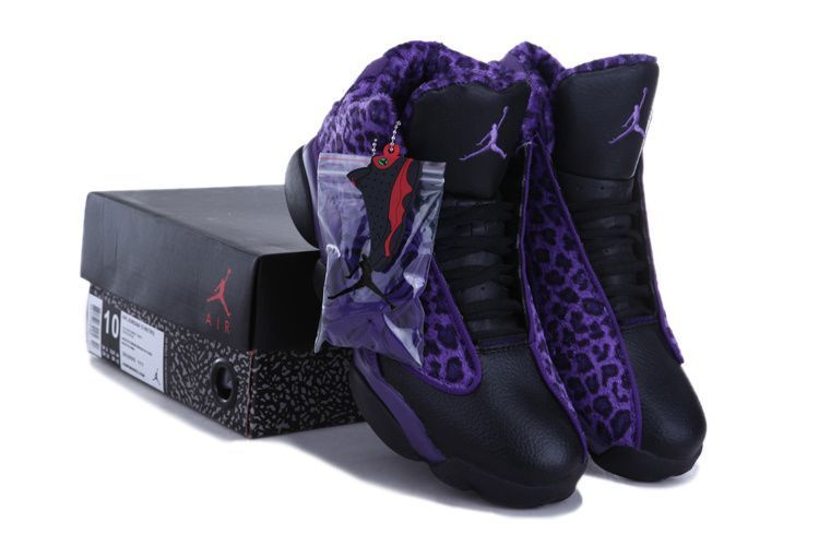 Air Jordan 13 (XIII) Leopard Black Purple [Air Jordan 13-4992] - $68.99
