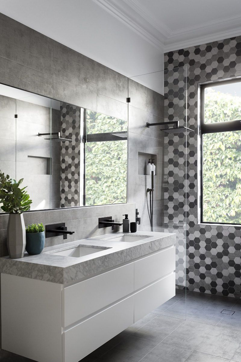 black white and silver bathroom ideas matte black accents add sophistication to this grey and white bathroom gray white bathroom 3524