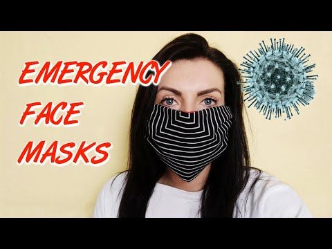 Photo of Emergency face masks – 5 easy, quick, no sew ideas