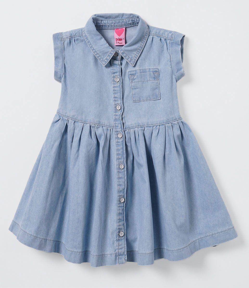 f6e1774ca67f42 Vestido Infantil em Jeans - Tam 1 a 4 anos - Lojas Renner | dresses ...