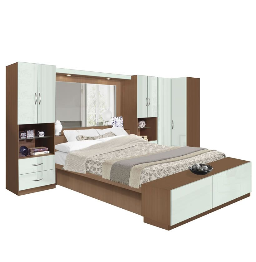 studio pier wall bed plus corner closet - Pier Wall Bedroom Furniture