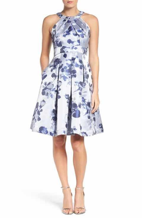 bde11bf0fbe Possible summer wedding guest dress. Eliza J Floral Fit   Flare Dress