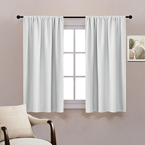 Kitchen Room Darkening Curtains Draperies Solid Rod Pocket Curtain Panels Drapes for Bedroom Energy Saving Model - Minimalist curtain treatments Lovely