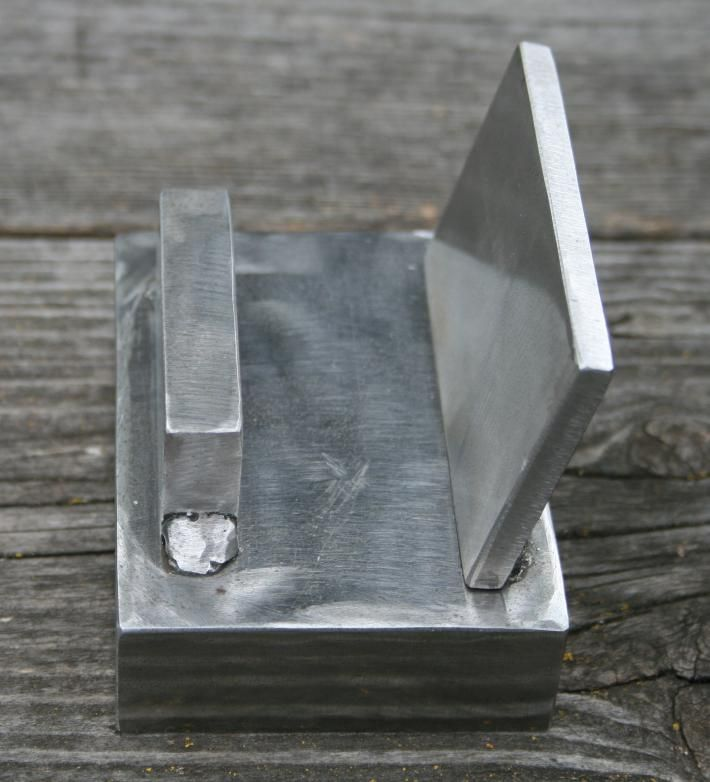 Business Card Holder Welded Scrap Steel - super easy project for new ...