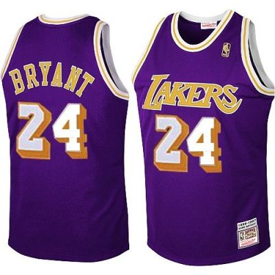 best service 74e87 ba3c9 Kobe Bryant Authentic In Purple Mitchell and Ness NBA Los ...