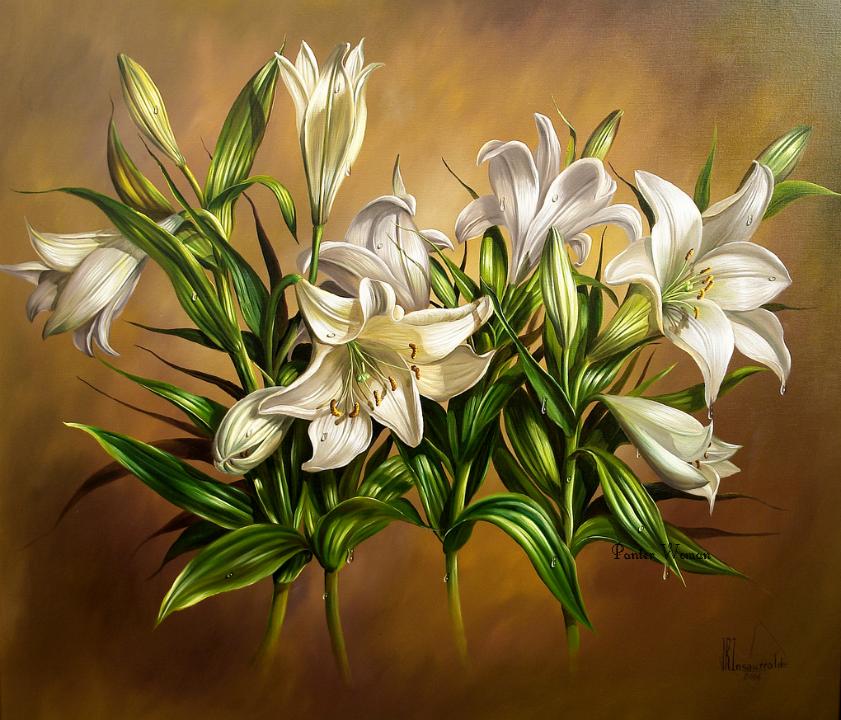 Картинки для декупажа цветы лилии