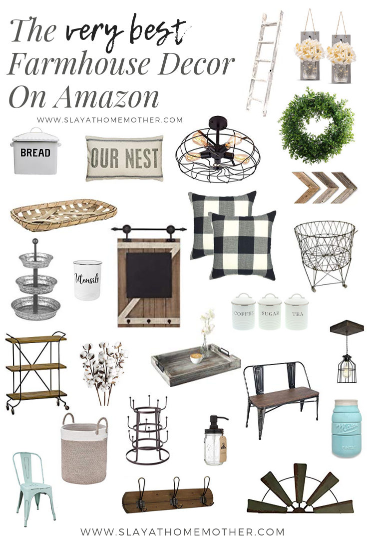 The Best Farmhouse Finds On Amazon - Slay At Home Mother
