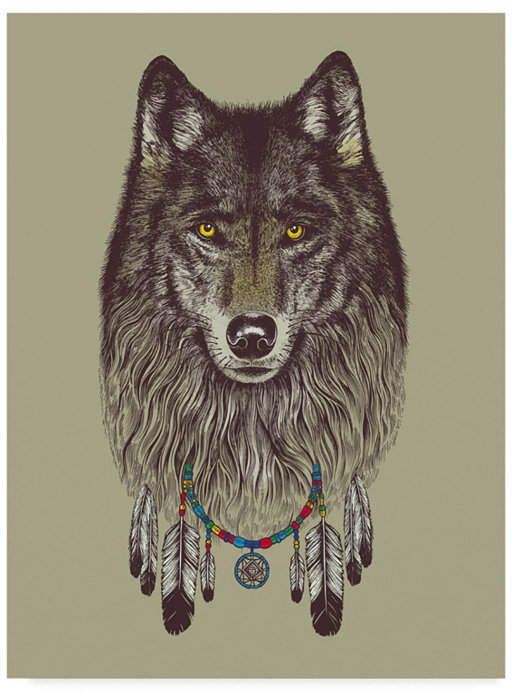 Trademark Global Rachel Caldwell 'Wolf Dreams' Canvas Art - 14
