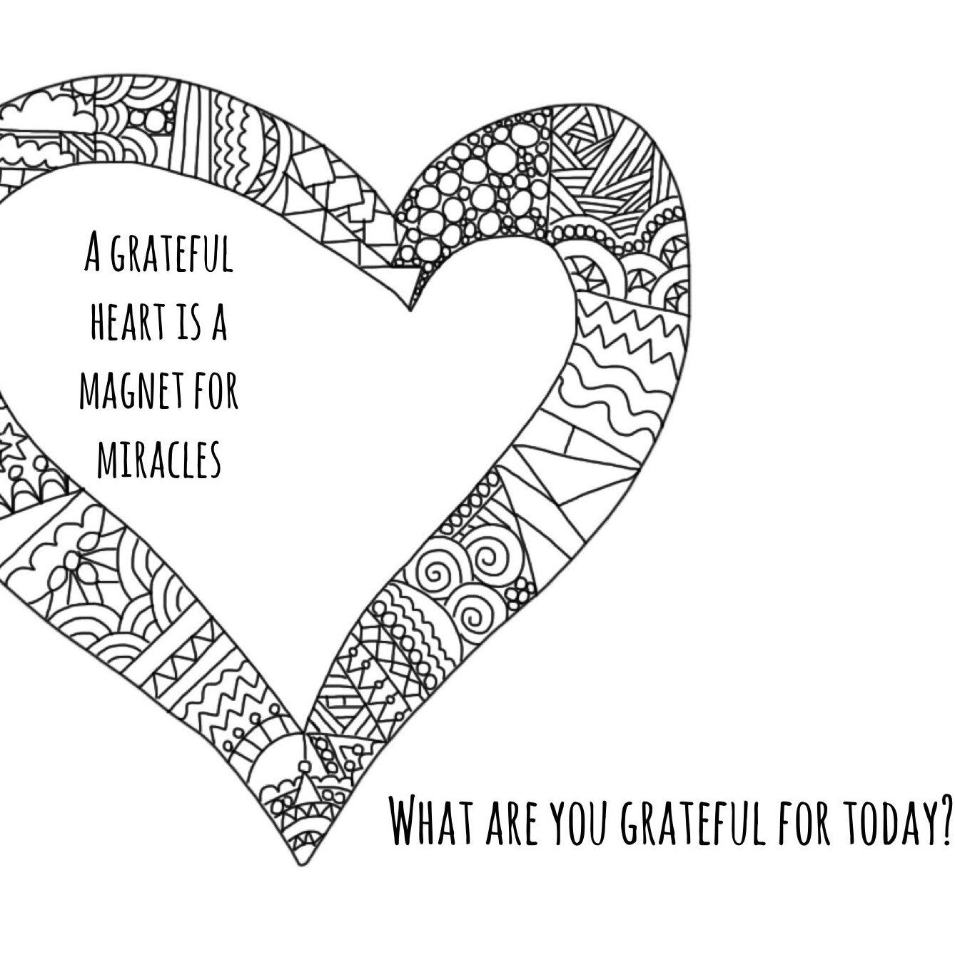 Mindful Colouring Pages To Help You Start A Gratitude Practice Or