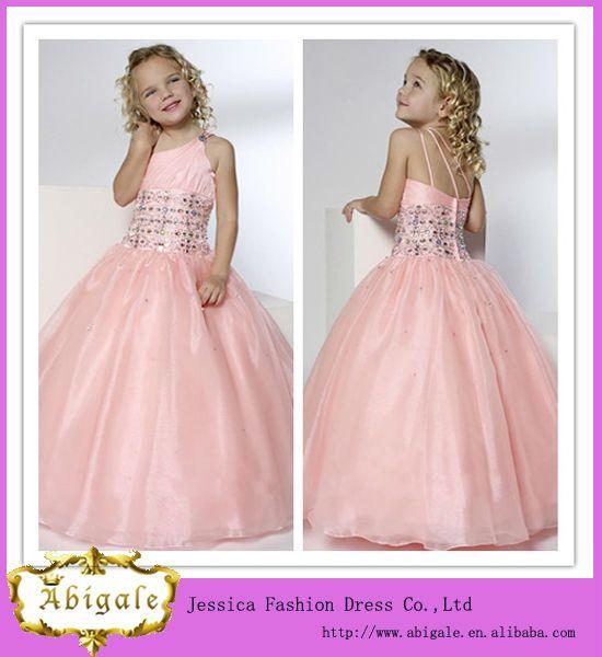 Girls Puffy Dresses For Kids Dreses Peach Girl Flower Kid Dress