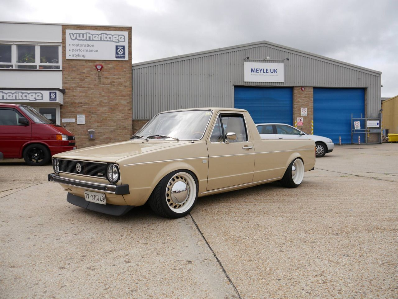 Sweet Vw Pick Up With Images Vw Cady Mk1 Caddy Old School Cars