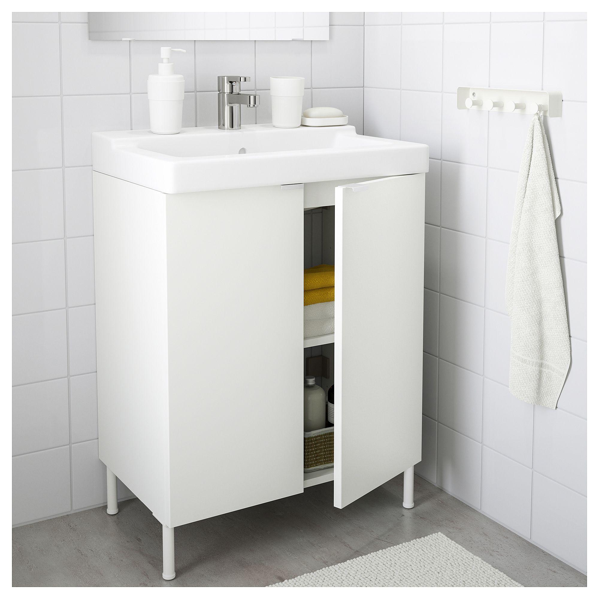 "IKEA LILL…NGEN T""LLEVIKEN Sink cabinet with 2 doors white"