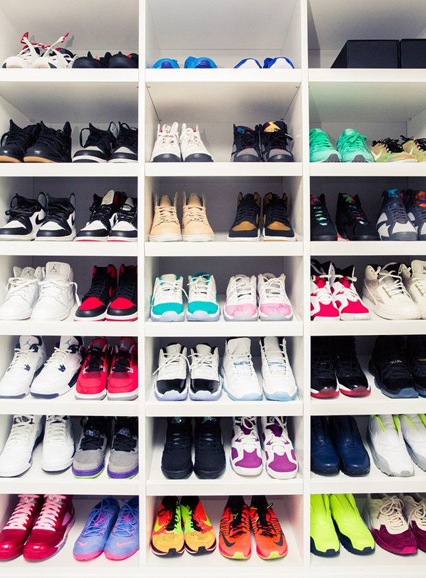 Victor Cruz Has the Biggest Closet Ever and It's Filled